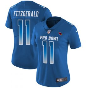 Wholesale Cheap Nike Cardinals #11 Larry Fitzgerald Royal Women\'s Stitched NFL Limited NFC 2018 Pro Bowl Jersey