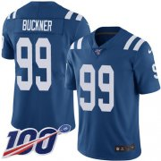 Wholesale Cheap Nike Colts #99 DeForest Buckner Royal Blue Team Color Youth Stitched NFL 100th Season Vapor Untouchable Limited Jersey