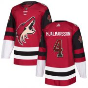 Wholesale Cheap Adidas Coyotes #4 Niklas Hjalmarsson Maroon Home Authentic Drift Fashion Stitched NHL Jersey
