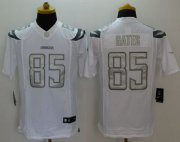 Wholesale Cheap Nike Chargers #85 Antonio Gates White Men's Stitched NFL Limited Platinum Jersey