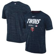 Wholesale Cheap Minnesota Twins Nike Authentic Collection Velocity Team Issue Performance T-Shirt Navy
