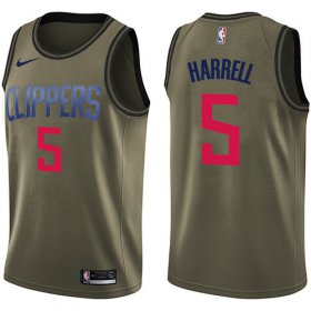 Wholesale Cheap Nike Clippers #5 Montrezl Harrell Green NBA Swingman Salute to Service Jersey