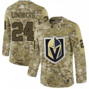 Wholesale Cheap Adidas Golden Knights #24 Oscar Lindberg Camo Authentic Stitched NHL Jersey