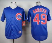 Wholesale Cheap Cubs #49 Jake Arrieta Blue Alternate Cool Base Stitched MLB Jersey
