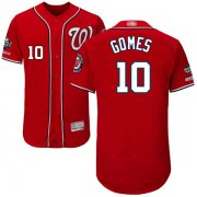 Wholesale Cheap Nationals #10 Yan Gomes Red Flexbase Authentic Collection 2019 World Series Champions Stitched MLB Jersey