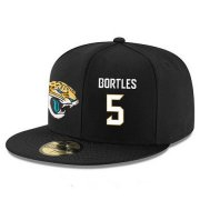 Wholesale Cheap Jacksonville Jaguars #5 Blake Bortles Snapback Cap NFL Player Black with White Number Stitched Hat