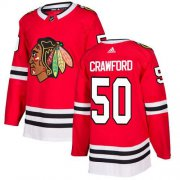 Wholesale Cheap Adidas Blackhawks #50 Corey Crawford Red Home Authentic Stitched Youth NHL Jersey