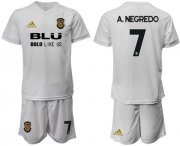 Wholesale Cheap Valencia #7 A.Negredo Home Soccer Club Jersey