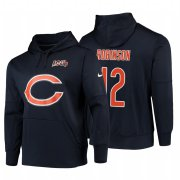 Wholesale Cheap Chicago Bears #12 Allen Robinson Nike NFL 100 Primary Logo Circuit Name & Number Pullover Hoodie Navy