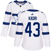 Wholesale Cheap Adidas Maple Leafs #43 Nazem Kadri White Authentic 2018 Stadium Series Women's Stitched NHL Jersey