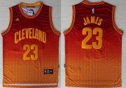 Wholesale Cheap Cleveland Cavaliers #23 LeBron James Red/Yellow Resonate Fashion Jersey