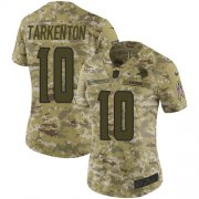 Wholesale Cheap Nike Vikings #10 Fran Tarkenton Camo Women's Stitched NFL Limited 2018 Salute to Service Jersey