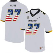 Wholesale Cheap Missouri Tigers 27 Brock Olivo White USA Flag Nike College Football Jersey
