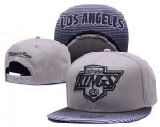 Wholesale Cheap NHL Los Angeles Kings Team Logo Gray Mitchell & Ness Adjustable Hat
