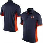 Wholesale Cheap Men's Nike NFL Chicago Bears Navy Team Issue Performance Polo