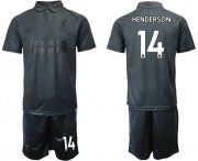 Wholesale Cheap Liverpool #14 Henderson Black Soccer Club Jersey