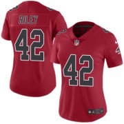 Wholesale Cheap Nike Falcons #42 Duke Riley Red Women's Stitched NFL Limited Rush Jersey