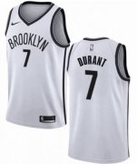Wholesale Cheap Men's Brooklyn Nets #7 Kevin Durant Nike White Swingman 2019-20 Jersey