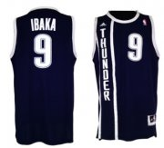Wholesale Cheap Oklahoma City Thunder #9 Serge Ibaka Revolution 30 Swingman 2013 Blue Jersey