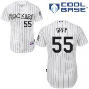 Wholesale Cheap Rockies #55 Jon Gray White Cool Base Stitched Youth MLB Jersey