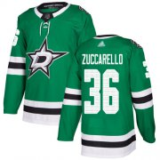 Wholesale Cheap Adidas Stars #36 Mats Zuccarello Green Home Authentic Youth Stitched NHL Jersey