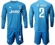 Wholesale Cheap Juventus #2 De Sciglio Third Long Sleeves Soccer Club Jersey