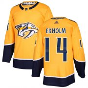 Wholesale Cheap Adidas Predators #14 Mattias Ekholm Yellow Home Authentic Stitched NHL Jersey