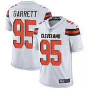 Wholesale Cheap Nike Browns #95 Myles Garrett White Men's Stitched NFL Vapor Untouchable Limited Jersey