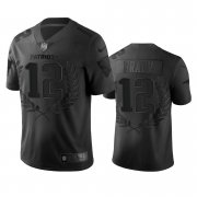 Wholesale Cheap New England Patriots #12 Tom Brady Men's Nike Black NFL MVP Limited Edition Jersey