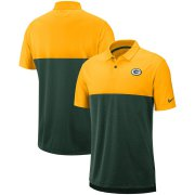 Wholesale Cheap Green Bay Packers Nike Sideline Early Season Performance Polo Gold Green