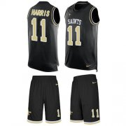 Wholesale Cheap Nike Saints #11 Deonte Harris Black Team Color Men's Stitched NFL Limited Tank Top Suit Jersey