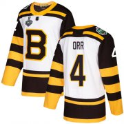 Wholesale Cheap Adidas Bruins #4 Bobby Orr White Authentic 2019 Winter Classic Stanley Cup Final Bound Youth Stitched NHL Jersey