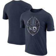 Wholesale Cheap Men's Los Angeles Rams Nike Navy Fan Gear Icon Performance T-Shirt