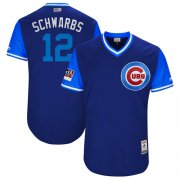 "Wholesale Cheap Cubs #12 Kyle Schwarber Royal ""Schwarbs"" Players Weekend Authentic Stitched MLB Jersey"