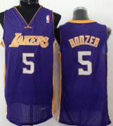 Wholesale Cheap Los Angeles Lakers #5 Carlos Boozer Purple Swingman Jersey