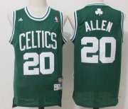 Wholesale Cheap Men's Boston Celtics #20 Ray Allen Green Hardwood Classics Soul Swingman Stitched NBA Throwback Jersey