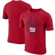 Wholesale Cheap Men's New York Giants Nike Red Fan Gear Icon Performance T-Shirt