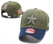 Wholesale Cheap NFL Dallas Cowboys Team Logo Olive Peaked Adjustable Hat SG15