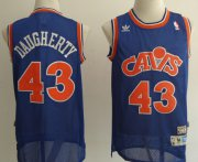 Wholesale Cheap Cleveland Cavaliers #43 Brad Daugherty Blue Swingman Throwback Jersey