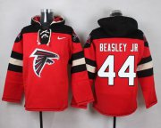 Wholesale Cheap Nike Falcons #44 Vic Beasley Jr Red Player Pullover NFL Hoodie