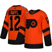 Wholesale Cheap Adidas Flyers #12 Michael Raffl Orange Authentic 2019 Stadium Series Stitched NHL Jersey