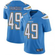 Wholesale Cheap Nike Chargers #49 Drue Tranquill Electric Blue Alternate Men's Stitched NFL Vapor Untouchable Limited Jersey