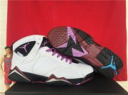 Wholesale Cheap Womens Air Jordan 7 Fuchsia Glow White/purple-black