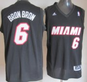 Wholesale Cheap Miami Heat #6 Bron Bron Black Fashion Jersey