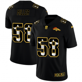 Wholesale Cheap Denver Broncos #58 Von Miller Men\'s Nike Carbon Black Vapor Cristo Redentor Limited NFL Jersey