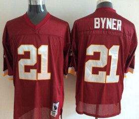 Wholesale Cheap Mitchell And Ness Redskins #21 Earnest Byner Red Throwback Stitched NFL Jersey