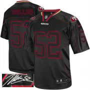 Wholesale Cheap Nike 49ers #52 Patrick Willis Lights Out Black Men's Stitched NFL Elite Autographed Jersey
