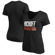 Wholesale Cheap Cincinnati Bengals Fanatics Branded Women's Kickoff 2020 V-Neck T-Shirt Black