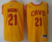 Wholesale Cheap Cleveland Cavaliers #21 Andrew Wiggins Revolution 30 Swingman Yellow Jersey