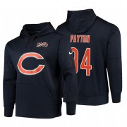 Wholesale Cheap Chicago Bears #34 Walter Payton Nike NFL 100 Primary Logo Circuit Name & Number Pullover Hoodie Navy
